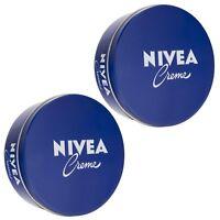 2 x Authentic German NIVEA Creme Cream Metal Tin 8.45oz / 250ml Genuine #1 RATED