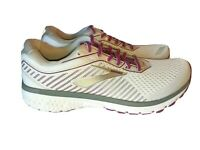 Brooks Ghost 12 Running Shoes Women's Size 9 White Pink 1203051B186 MSRP $160