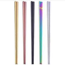 1 Pair Stainless Steel Korean Colorful Chopsticks Rainbow China Food Chopstick