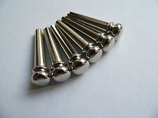 Chromed Brass premium bridge pin set for acoustic guitars string pegs pins