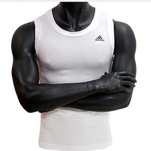 Techfit UW Tank Top Shirts White Sleeveless XL Size ADIDAS 087806 Men