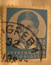 Yugoslavia Stamp 1935 Scott 129 A10  King Peter 20