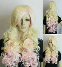 USJF829  2013 super blonde  Pink long curly Cosplay wig wigs for women