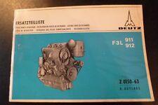 Deutz Motoren F3L 911 + F3L 912 Ersatzteil-Katalog