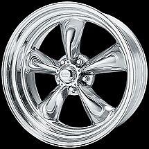 17 18 inch 17x7 18x8 TORQ THRUST II Polished Rims Classic General Motors 5x4.75