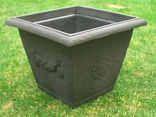 Pflanzkübel Blumenkübel 40 cm x 40 cm Kunststoff anthrazit / schwarz   -  Dekor