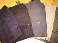 COMBAT CARGO LINED FLEECED WARM WINTER TROUSERS THERMAL  WORK  BOTTOMS  XXL  NEW
