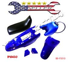 Yamaha PW50 PY50 PW 50 Plastic Fender Seat Gas Tank Kit Blue