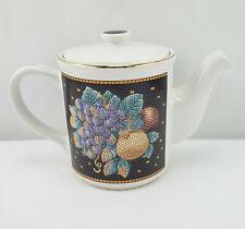 "Vintage Cbk Ltd 1992 Taiwan R.O.C. Teapot Floral Mosaic-look 5.25"""