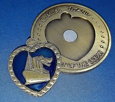 TITANIC Heart of Ocean Bronze Coin Rose Nude Drawing Art Jack Leonardo DiCaprio