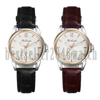 Casual Business PU Leather Wrist Watches Quartz Analog Watch Womens Lady's Gifts