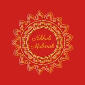 Wedding/ Nikkah Mubarak Card