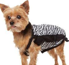 Martha Stewart Dog Tank Zebra Stripe Medium Girl Shirt Black White Pet New