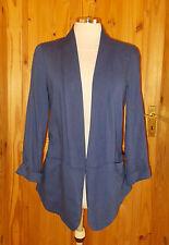 OASIS medium blue open fronted 3/4 sleeve jacket cardigan top 10 36