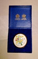 Halcyon Days Trinket Box Mother'S Day 1975 Tulips Basket Bilston & Battersea