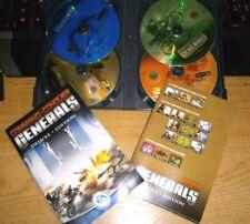 Command and & Conquer Generals Deluxe + C & C Zero Hour exp ORIGINALS  PC VGC