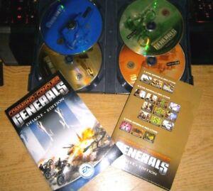 Command & Conquer Generals Deluxe inc C&C Zero Hour exp PC game VGC