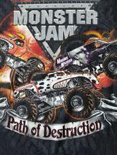 MONSTER JAM -TRUCKS-PATH OF DESTRUCTION-2011 WORLD TOUR-T-SHIRT-XL-RARE-SKULL