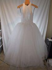 DESIGNER BEADED EMBROIDERED LACE BALL GOWN PRINCESS WEDDING DRESS DEMETRIOS 2 4