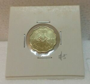 HONG KONG  Commemorative 20 cents coin 1997 Butterfly Kites  UNC/BU  #5