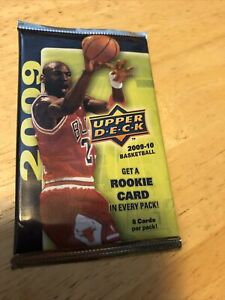 2009-10 UPPER DECK BASKETBALL SEALED PACK One Rookie Card Per Pack