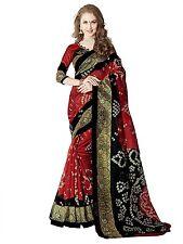 SevenFold New Indian Multi Color Bhagalpuri Silk Designer Wear Fancy Saree/Sari