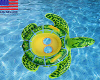 Lit turtle baby toddler kids Swimming inflatable pool float ring tube For kids