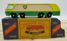 Vintage Matchbox Lesney Major Pack BP Petrol Tanker #1 M1 Original Box