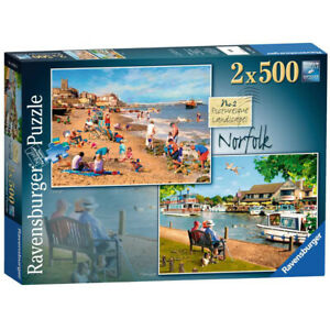 Ravensburger 500 Piece Jigsaw Puzzles x 2 Norfolk Landscape 49 x 36 cm
