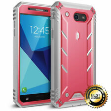 For Galaxy J7 (2017) Poetic Revolution Case With Built-In Screen Protector PInk