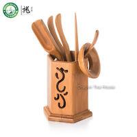 Esaedro tè di bambù per casa cinese Gongfu Cerimonia del tè Cha Dao set