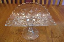 Antique EAPG Bryce Clear Glass Sheaf And Diamond Banana Stand