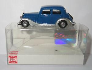 MICRO BUSCH HO 1/87 MERCEDES-BENZ 170 V 1936 LIMOUSINE BLEU ARGENT #41430 in box