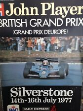 BRITISH GRAND PRIX 14th July 1977 SILVERSTONE Official Programme