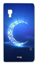 CUSTODIA COVER CASE LUNA TRIBALE CIELO NOTTE SERA PER CELL LG OPTIMUS L5 II E460