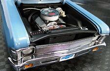 1 1969 Chevy Nova Drag Race Hot Rod 18 Auto Car Carousel Blue 12  Model Art 24