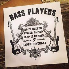 Bassista BUFFA cartolina Di Compleanno-bassista chitarra basso fender AMPEG Warwick