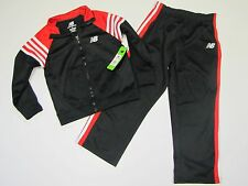 NEW BALANCE Red & Black Athletic Jogging Suit NWT Pants & Jacket $46 Boys 4
