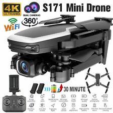 Faltbar WiFi FPV Drohne 4K Kamera Quadrocopter RC Drone Videokamera mit 2x Akkus