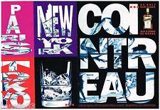 PUBLICITE ADVERTISING 095  1991  COINTREAU  liqueur ( 2 pages) PARIS-TOKYO