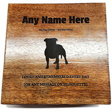 Staffordshire Bull Terrier Pet Urn Ashes Pet Box Dog Urn Cat Urn Personalised