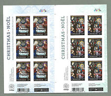 CANADA 2011 GUTTER BOOKLET PANES - CHRISTMAS (USA & International)  - MNH