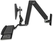 Elite 5220 - Paralink Double Arm LCD Wall Mount With Bent Keyboard Tray