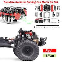 Simulate Radiator Cooling Fan LS7 V8 Motor for 1/10 RC Crawler TRX4 SCX10 RC Car