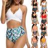 Women High Waist Swimwear Bikini Set Push-up Padded Bra Bathing Suit Swimsuit US