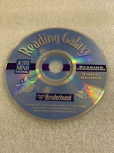 READING GALAXY Reading Comprehension ACTIVE MIND - BRODERBUND / CD-ROM PC & MAC
