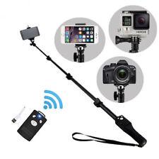 Bluetooth Shutter Extendable Selfie Stick Monopod for Gopro Cell Phone Camera