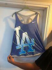 LA Dodgers Nike Womens Athletic Cut BluE Tank top Tee Sz X-Large Sri-fit (#5)