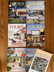 Häuser  Zeitschrift Architektur und Design, Kplt. Jahrgang  2016+ 1 ExtraHeft