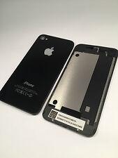 iPhone 4 Akkudeckel schwarz Backcover Rückseite Glas Ersatz Rückschale cover
